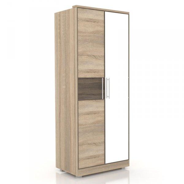 Шкаф «Бруна» с 1-ой зеркальной дверью (ЛД 631.140, 631.132)