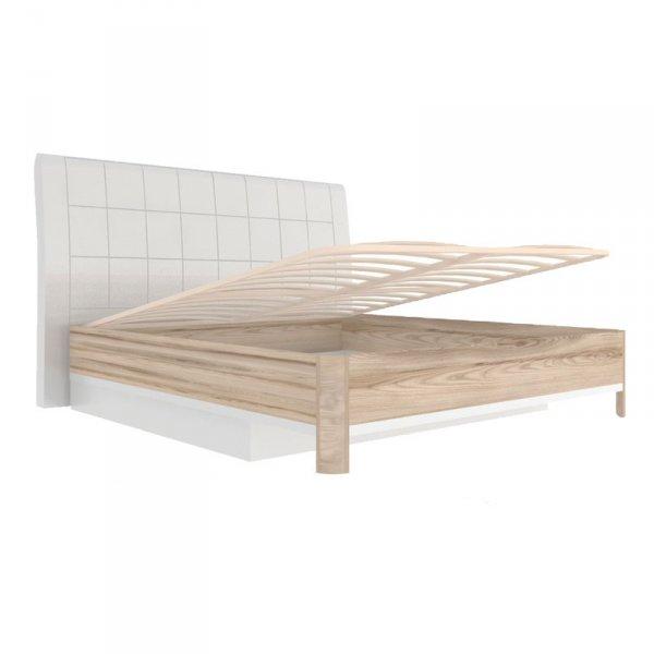 Кровать 1200 «Марта» (с подъемным механизмом и мягкой спинкой)